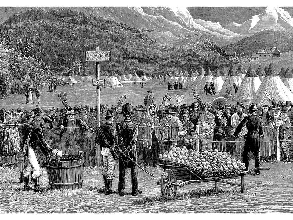 Reisende aus der Schweiz werden in Bardonnechia in Quarantäne gehalten