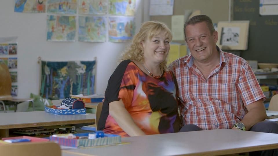 Claudia und Roger gingen von 1968 bis 1971 zusammen in die Primarschule.