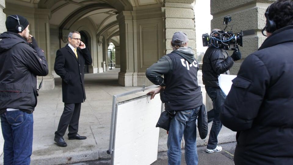 Vor der Kulisse des Bundeshauses