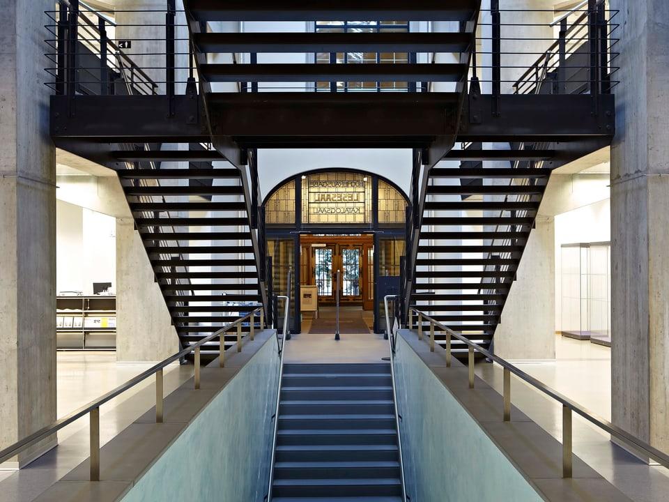 Neubau Zentralbibliothek Zürich, Treppenhaus.