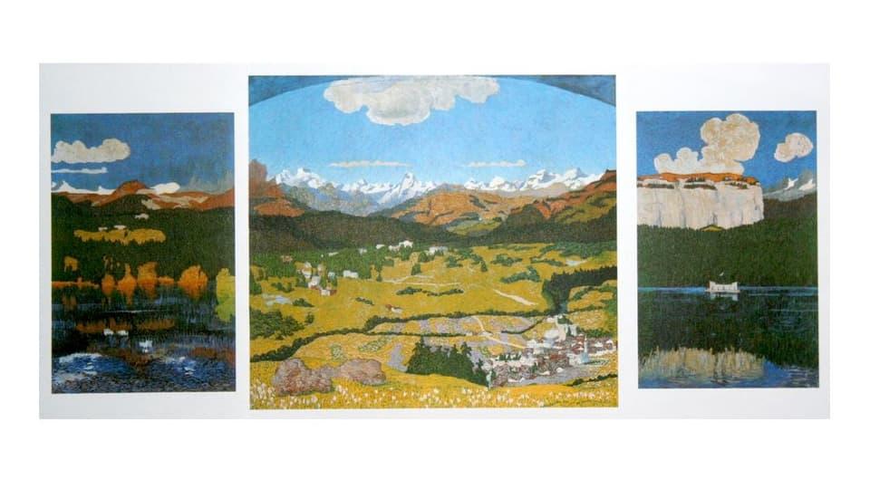 Il triptychon «panorama da Flem» da Giovanni Giacometti