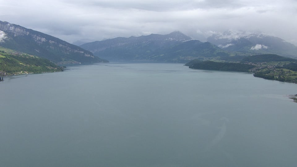 Luftaufnahme des Thunersees