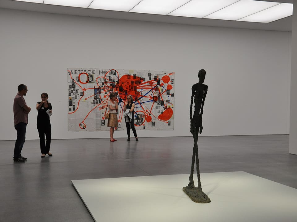 Il punct culminant da l'exposiziun «Solo Walks» è «L'homme qui marche» d'Alberto Giacometti.
