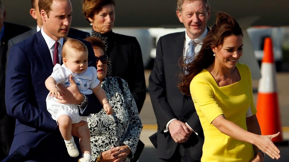 Die britischen Royals in Australien.