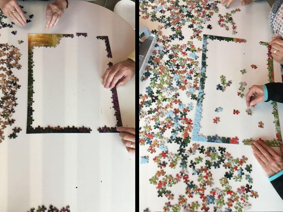 Rand des Puzzles ist gemacht.