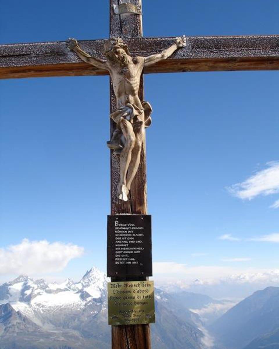 Crusch da muntogna sin il Klein Matterhorn.