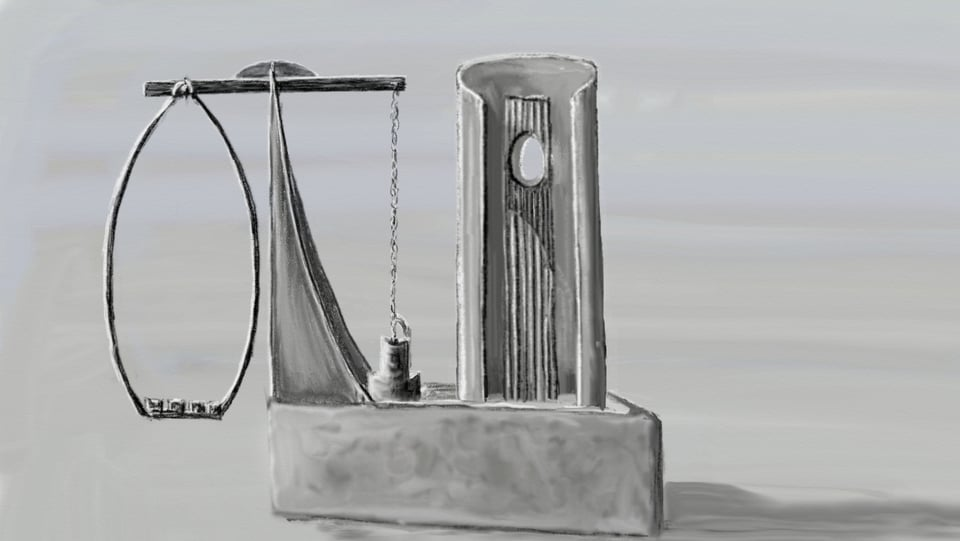 Model da la nova funtauna da Sontg Placi a Sontget.