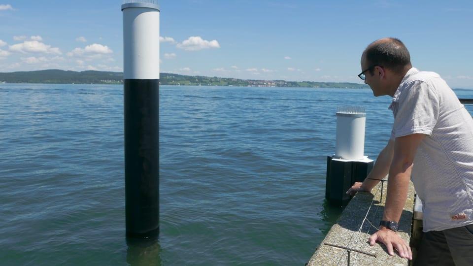 Meine Suche nach den Internet-Kabeln beginnt beim Fährhafen Konstanz am Bodensee. Hier kommt ein Glasfaserkabel an ...