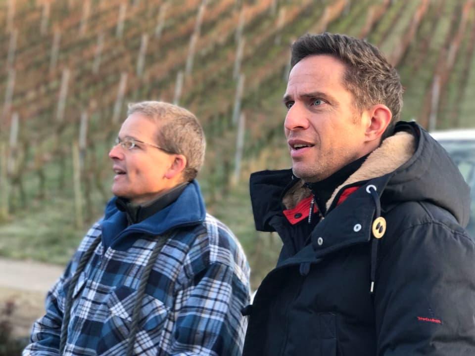 Adrian Küfer mit Christof Zimmerli.
