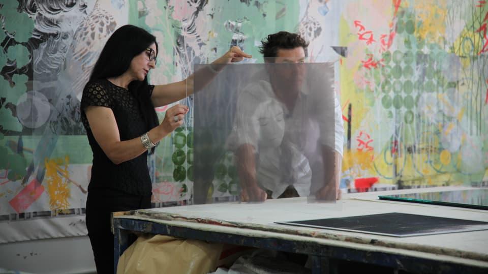 Sven und Polixeni Papapetrou im Atelier.