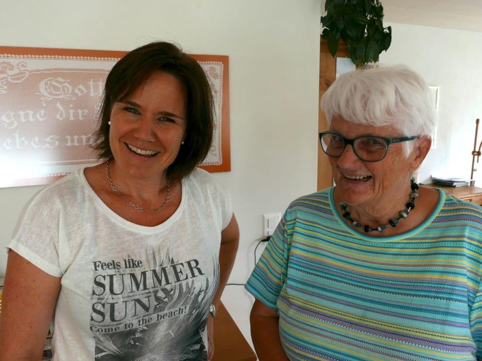 Ursula Isenegger und Maria Strebel.