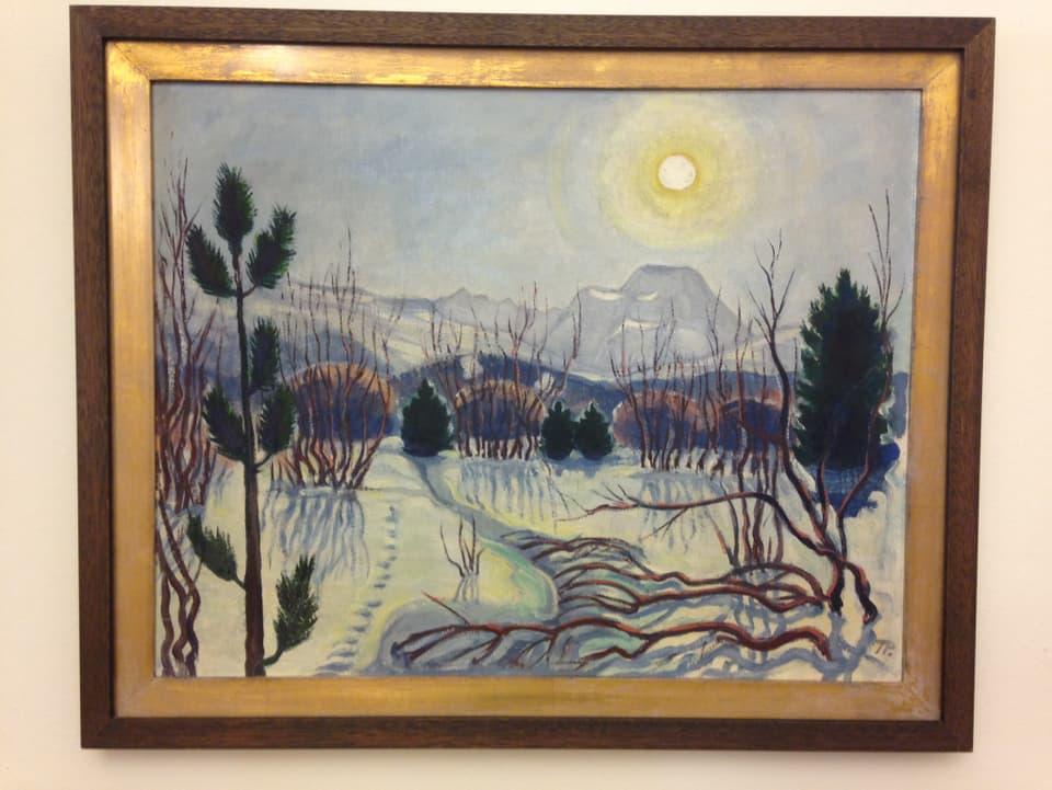 Exponat da vesair enfin mez settember en la Chesa Planta: Turo Pedretti – «sulagl da marz» (1930).