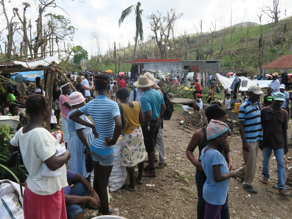 Blick auf den Markt. Die leidgeprüften Haitianer kämpfen ums Überleben.