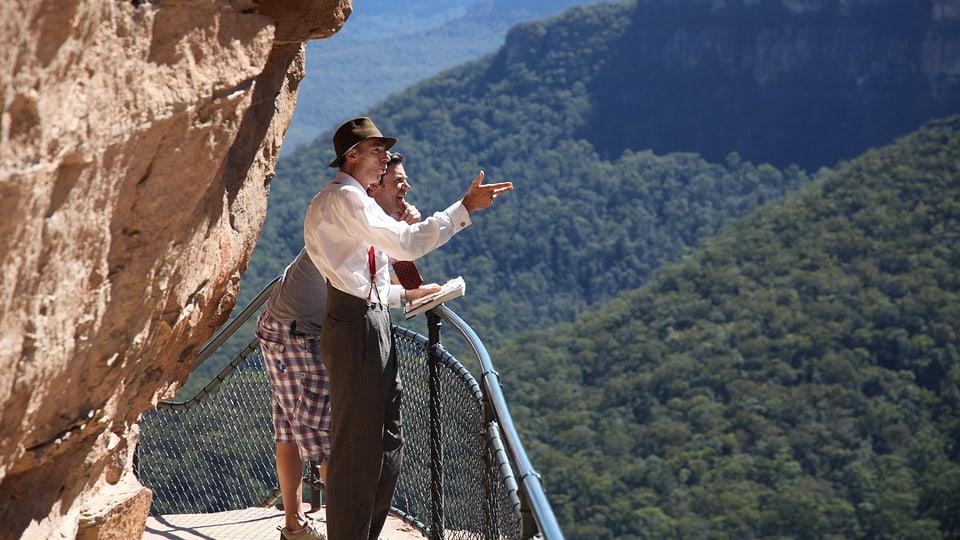 Chris Darwin führt Sven durch die Blue Mountains.