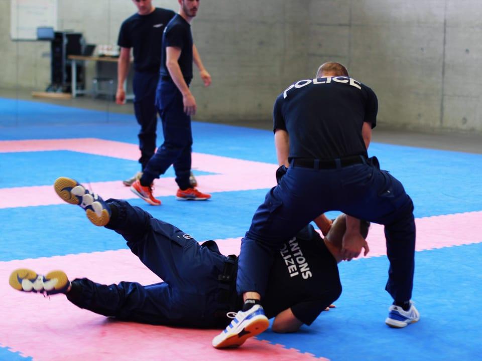 Die Polizeischule Hitzkirch hat wegen der steigenden Gewalt gegen die Polizei die Selbstverteidigung intensiviert.