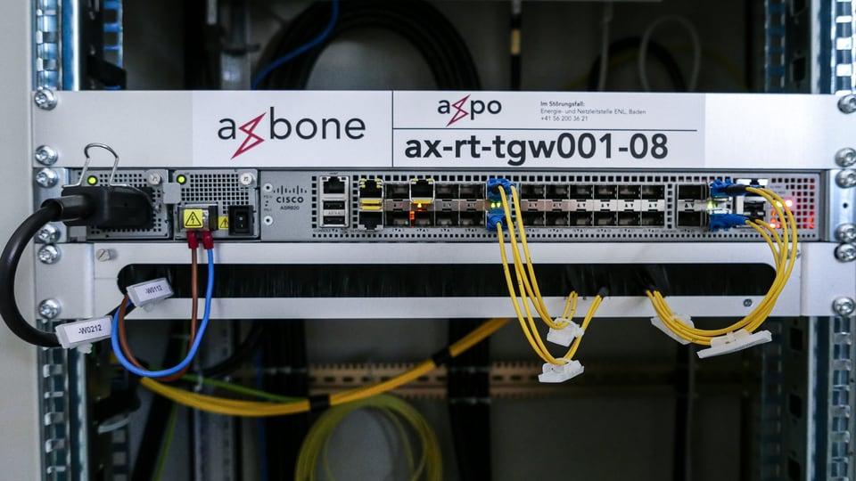 Hier findet der Grenzübergang statt: Die Daten wandern vom deutschen Netz der Stadtwerke Konstanz ins Netz (den Backbone) der Axpo.