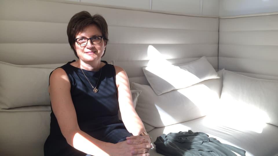 Bettina Plattner, che ha inizià l'atelier.
