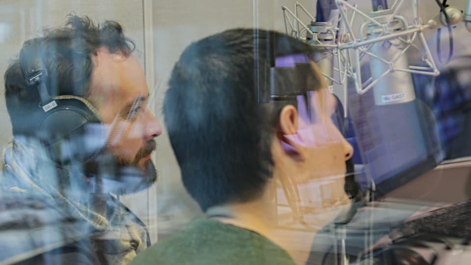 dus commembers da Breitbild en il studio da RTR.