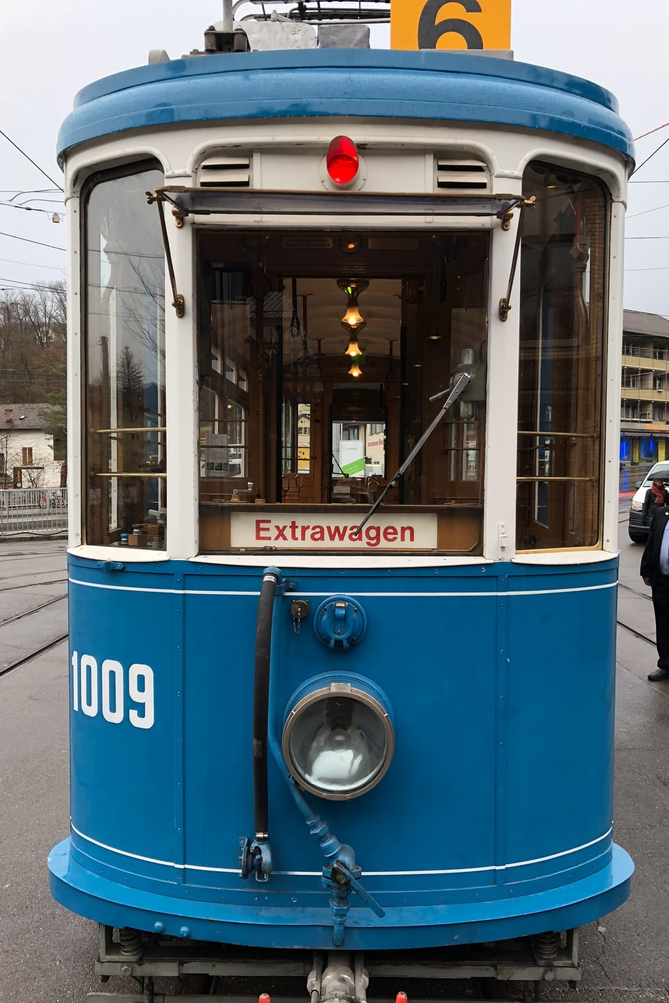 Tram Extrafahrt von vorne