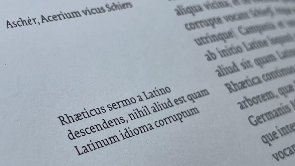 Ina giada en latin...