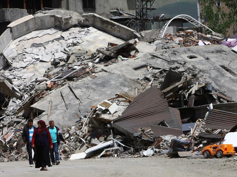 Trümmer eines Hauses
