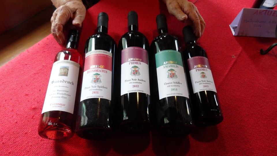 5 buttiglias vin sin maisa.
