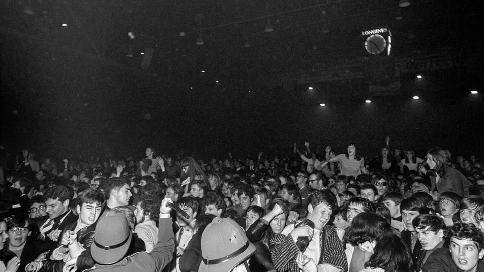 Il concert dals Rolling Stones 1967 en il Hallenstadion.