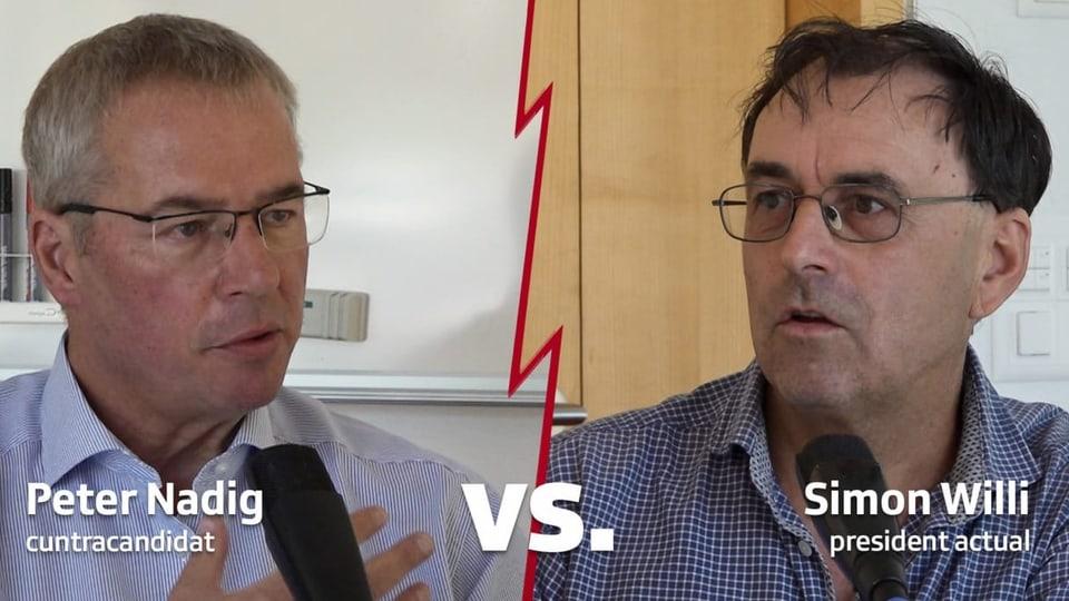 La debatta tranter Peter Nadig e Simon Willi