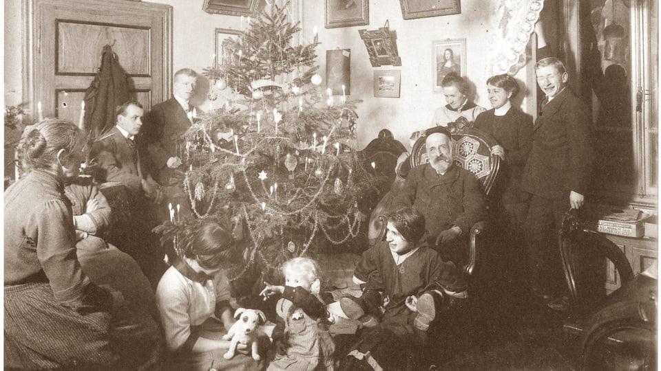 Nadal 1913 en la Val dal Blegn