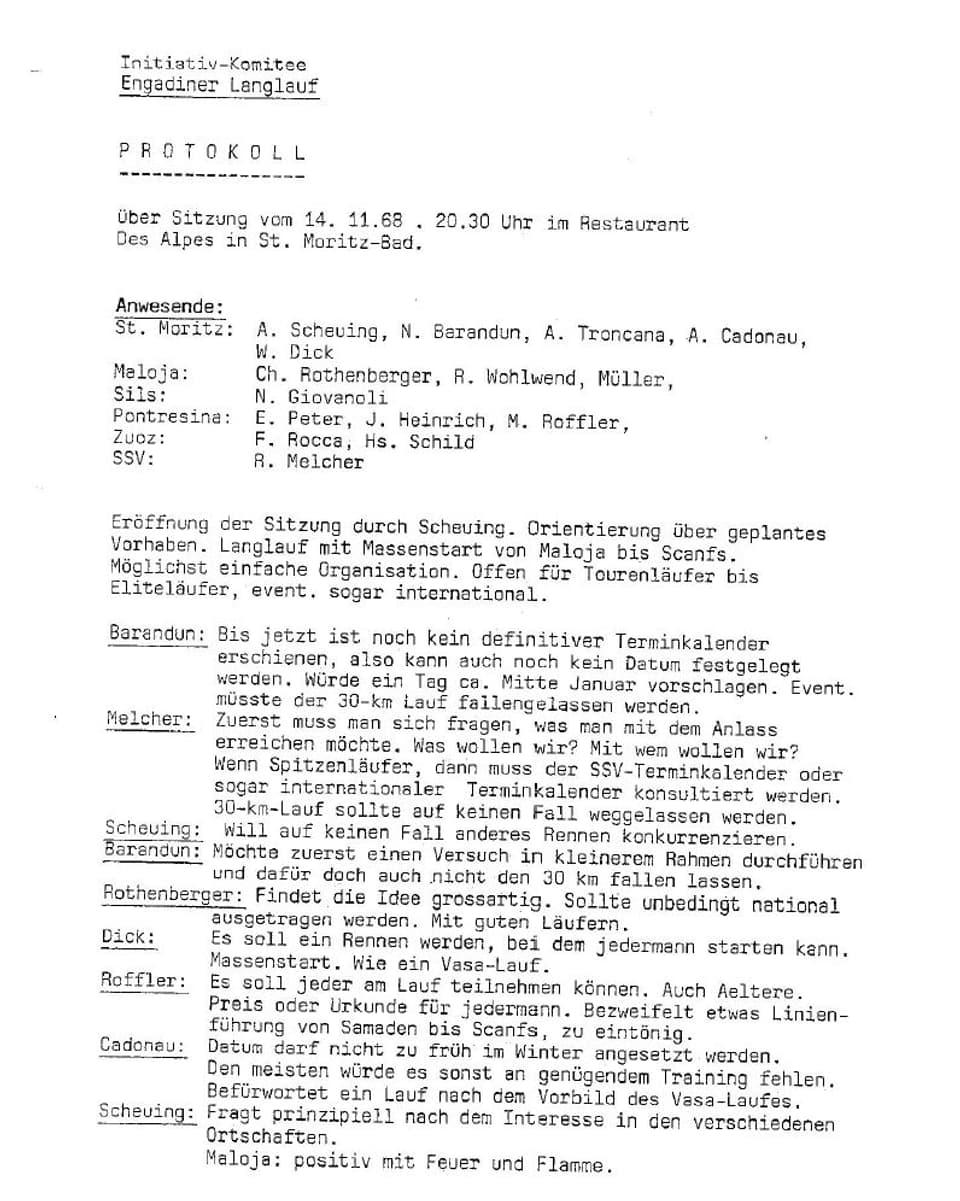 Protocol da fundaziun Maraton da skis engiadinais part II