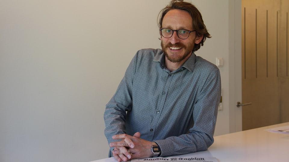 Luzi Bürkli, il chauredactur dal Bündner Tagblatt