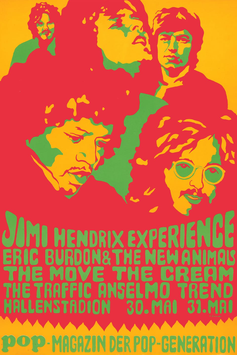 Konzertplakat von Jimi Hendrix
