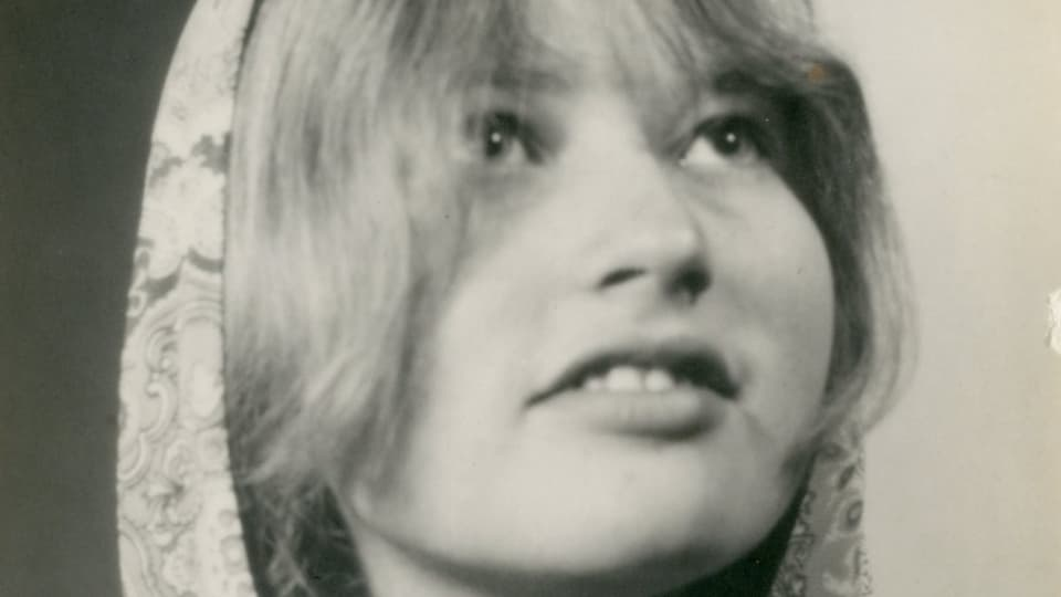 Schwarzweissportrait von Babs 1970.