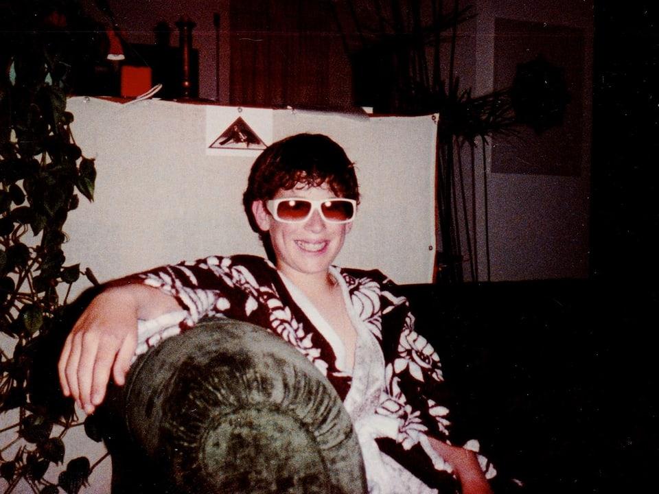 Sonnenbrillen waren damals schon ein wichtiger Faktor.