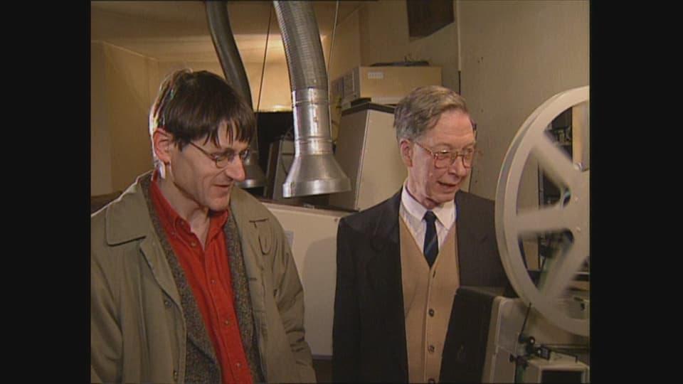 Gilbert Taggart, il creader dal film animà «Ils trais vents», cul cumponist dal soundtrack Curdin Janett.