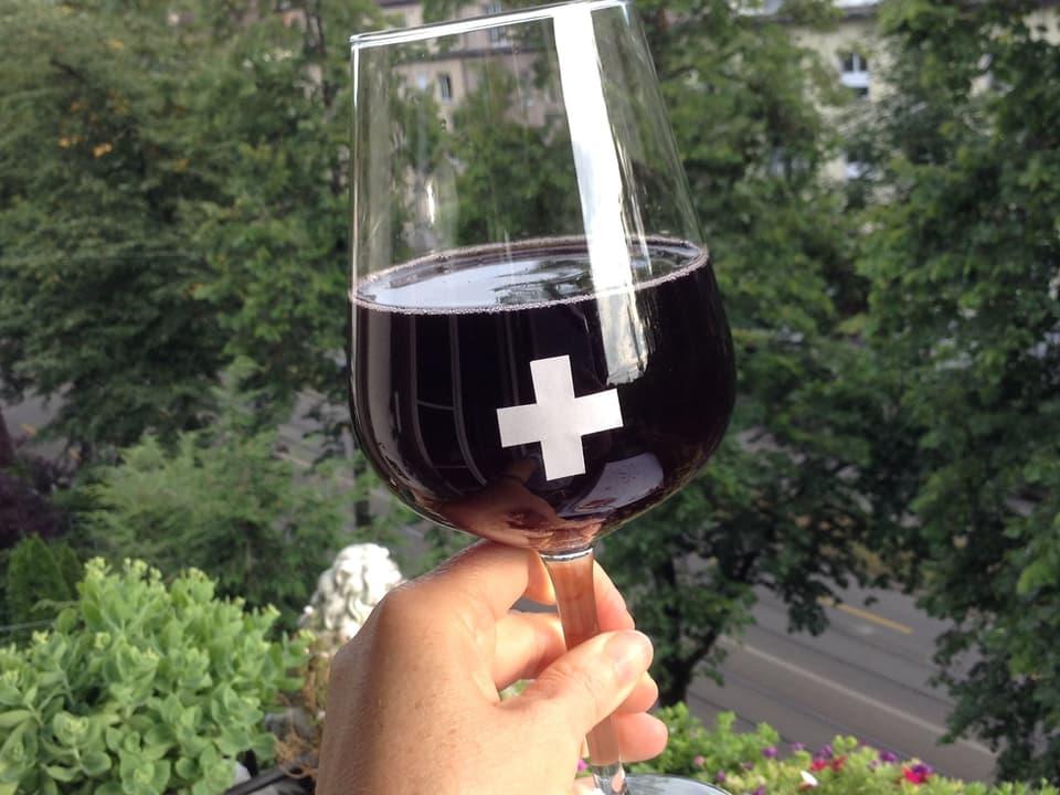 Ein Glas Wein.