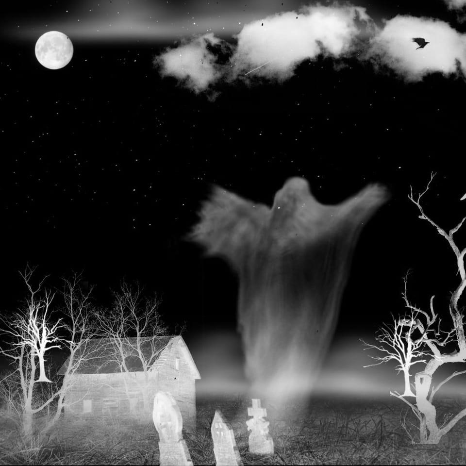 Bildcollage mit Totemügerli bei Nacht.