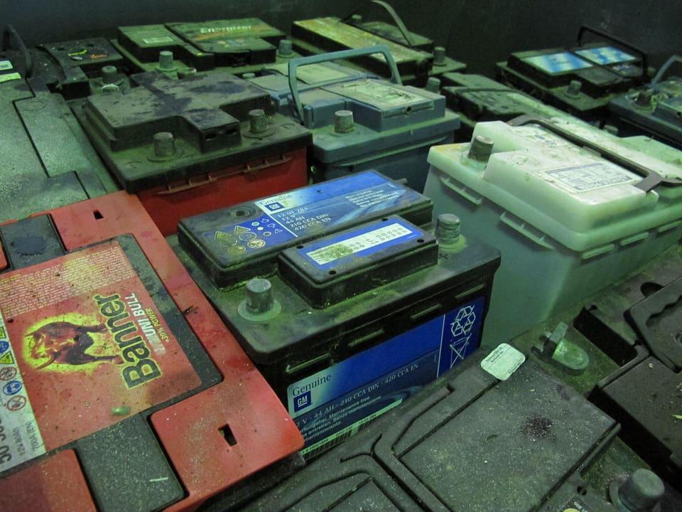 Batterien, die nicht mehr zu gebrauchen sind.