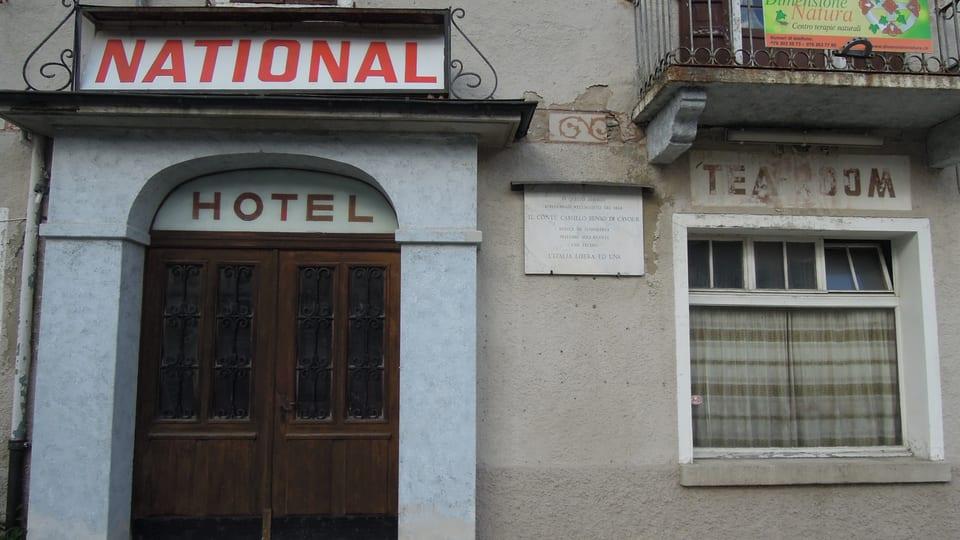 Er l'hotel National è serrà – avant blers onn ha qua anc il Conte Cavour fatg susta.