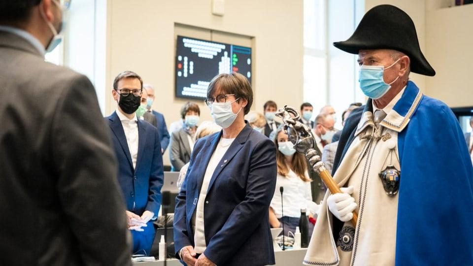 Inauguraziun d'Aita Zanetti, nova presidenta dal Cussegl grond