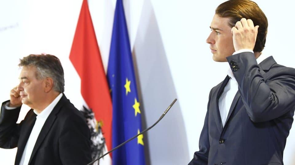 Zerreissprobe für konservativ-grüne Koalition in Österreich