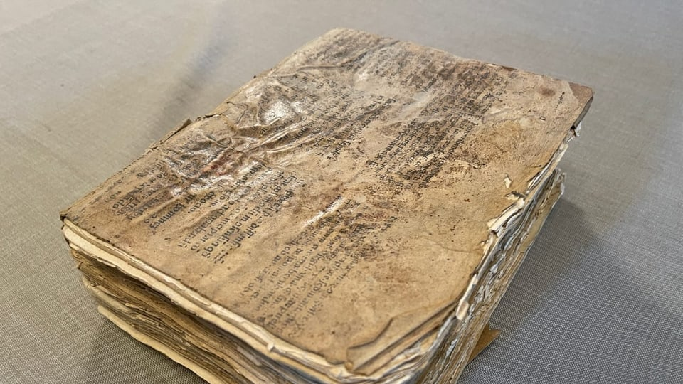 Quai è el – il manuscrit original da Chiampell dal 1573.