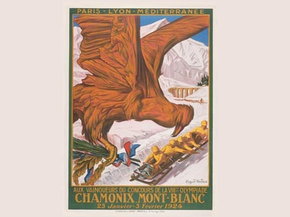 Poster der 8. olympischen Winterspiele in Chamonix