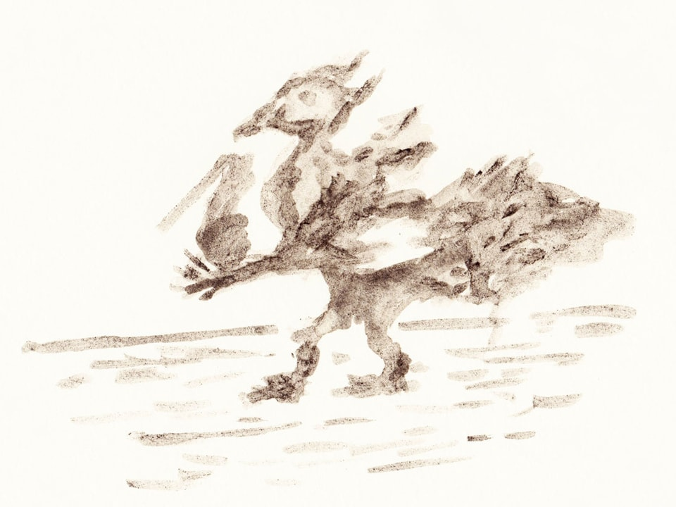 Vogelartiges Totemügerli.