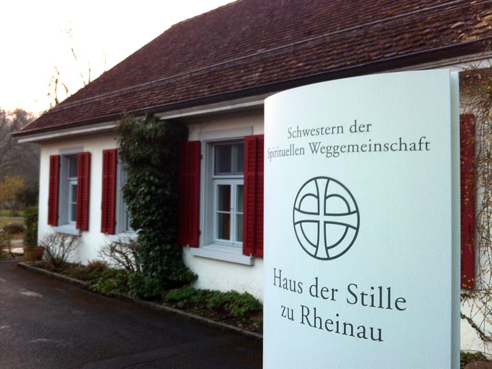 Aussenansicht Haus der Stille zu Rheinau.