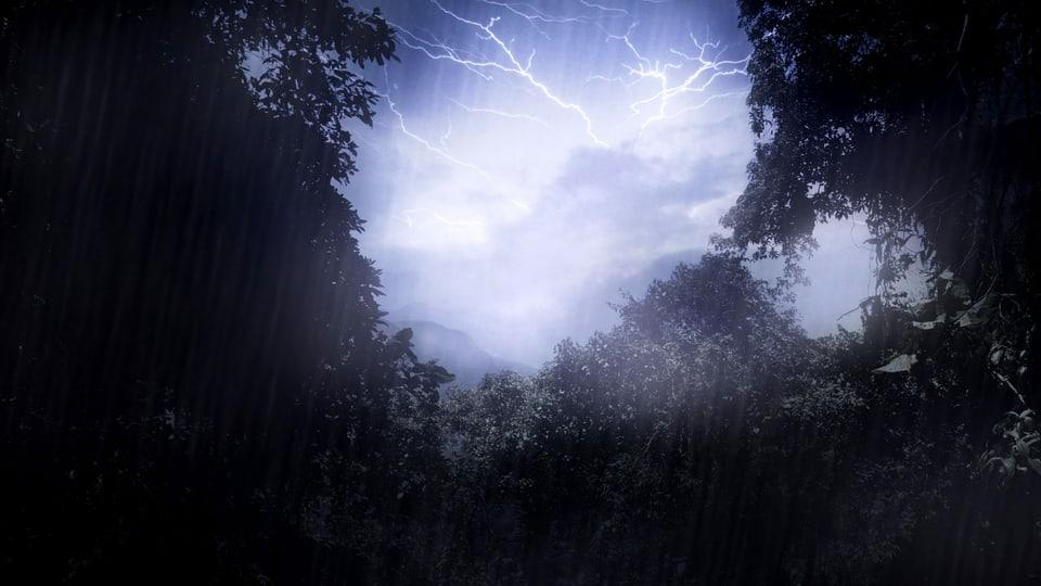 Blitz aus nicht so heiterem Himmel