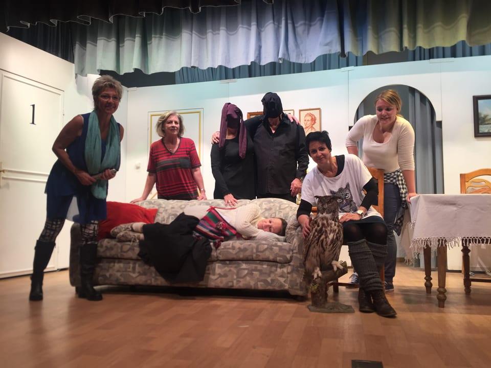 Ils acturs da la gruppa da teater da Schlarigna èn pronts.