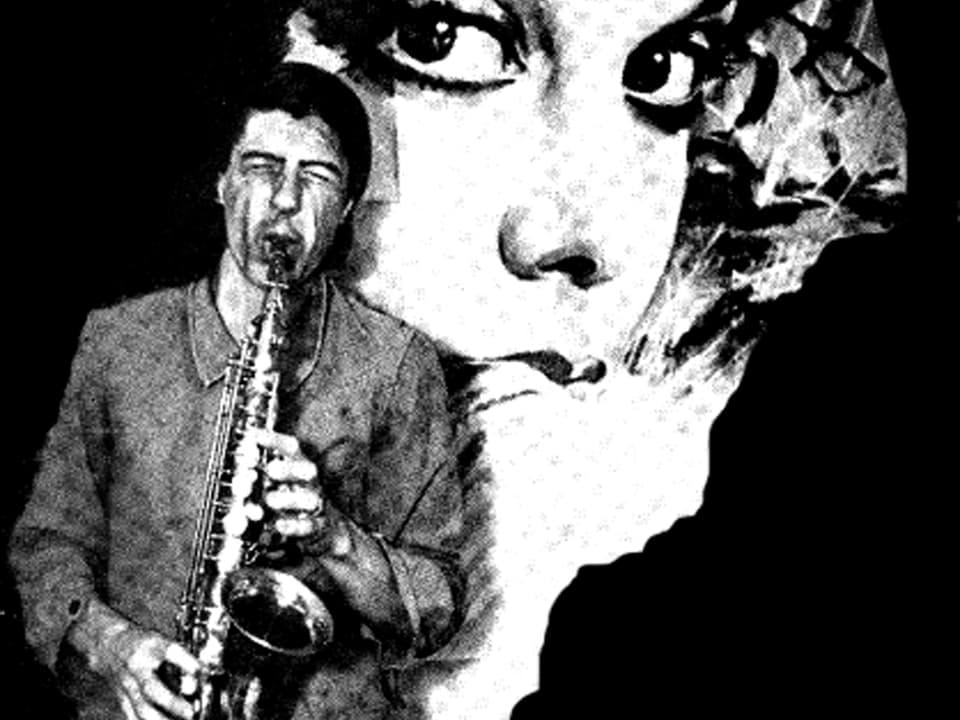 Kurt Maloo mit Saxophon.