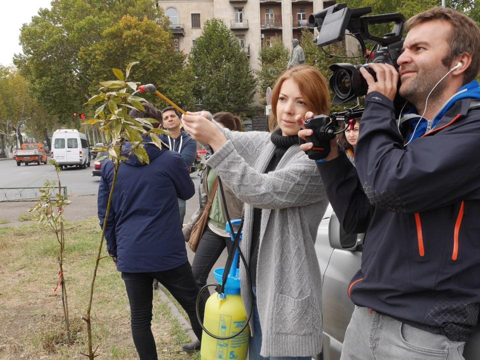Die Bewegung gibt's seit wenigen Monaten. Regelmässig pflanzen die urbanen GärtnerInnen Bäume in der Stadt, um sich gegen den Bauwahn der Regierung zu wehren und sich für eine grünere Gesellschaft einzusetzten.