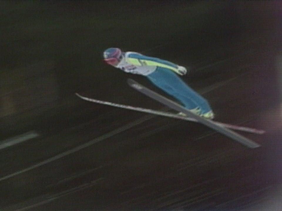 Jan Böklöv im Winter 1988/89 im Sprung.